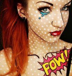 comics halloween makeup look