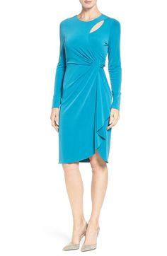 Catherine Catherine Malandrino 'Gordon' Faux Wrap Sheath Dress available at #Nordstrom