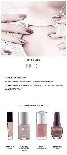 Beauty How To: The Nude Nail #Sephora #SephoraNailspotting #nailart
