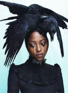 Love #6, Fall/Winter 2011-12  Photo: Mert + Marcus. Model: Nyasha Matonhodze  Dress by Giles, headpiece by Pam Hogg.