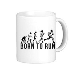 VetiVer Running Evolution Born To Run Porcelain Travel Mug Coffee To Go Mugs * Unbelievable cat item right here! : Cat mug