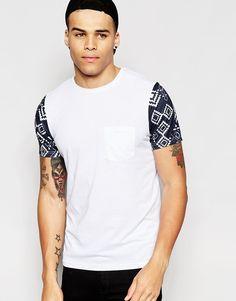 Image 1 ofAnother Influence Aztec Sleeve T-Shirt