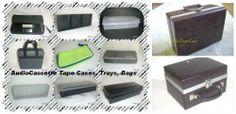 Storage for Old School Media (8-Track, Audio CASSETTE TAPES) - AUDIO CASSETTE TAPE CASE AudioTape Storage Organizer Desk Box TRAY Wall RACK [MsFrugaLady on eBay, listing ends 4/6/2014]