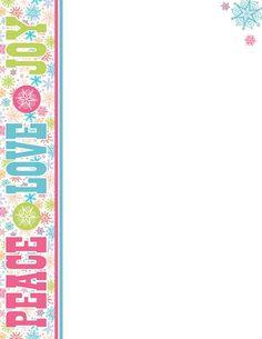 Peppermint Glitter Christmas Letterhead X Pk  Pks