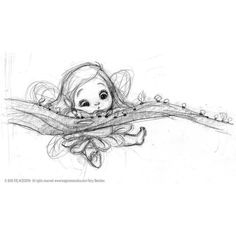 baby blocks photos: fairies sketches found on Polyvore