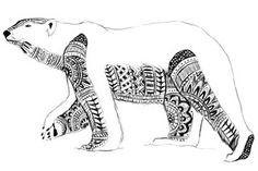 Polar bear inuit art