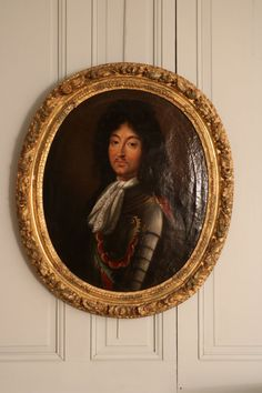 Portrait Of Louis XIV, French school circa 1670 Ludwig Xiv, French School, Louis Xiv, Versailles, Holy Spirit, 18th Century, Oil On Canvas, Art Decor, Carving