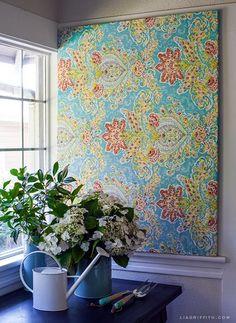 Beau 40 Ridiculously Artistic Fabric Wall Art Ideas