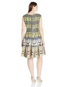 Taylor Dresses Womens Plus Size Novelty Circle Embroidery Shift Dress