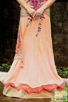 Lehenga Choli Beige Net Handwork Designer Bollywood Gherdar Picture 10