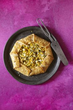 Fresh Corn Galette with Zucchini, Thyme, and Goat Cheese