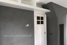 Betonlook wand grijs #stuccobeton www.stucadoorstiens.nl