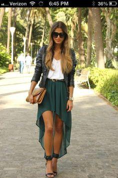 Cute hi-lo skirt