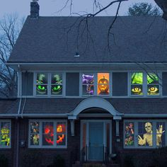 Halloween Window Posters – a quick and easy Halloween decoration that instantly transforms your home into a haunted mansion.