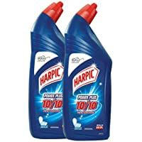 Harpic Powerplus Disinfectant Toilet Cleaner, Original - 1 L (Pack of (as of - Particulars) A Glowing Clear occasions extra yellowish stain eliminationKills of germsHelps battle odor and any disag. Pts 10, Toilet Stains, Washing Detergent, Indian Jokes, Hard Water Stains, Sparkling Clean, Toilet Cleaning, Pattern Names, Life Science