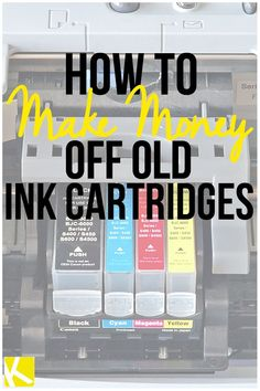 How to Make Money Off Old Ink Cartridges