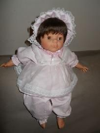 "Diana Collection Baby Doll 17"" soft stuffed w/ outfit. For this and more visit me at www.dandeepop.com"