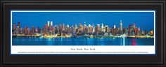 New York Skyline Panorama, New York Picture Framed