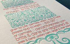 Fiore Press | Letterpress calligraphy