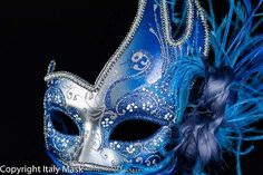 mardi gras feather full face masks - Google Search