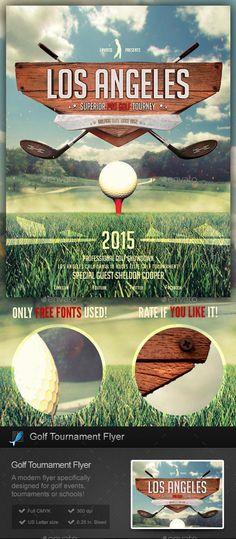 Golf Event Flyer Template Sports Events Work Pinterest Flyer