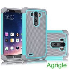 LG G3 Case,LG G3 Shockproof cases,AGRIGLE 2 in 1 Light Weight [Perfect Fit][Bumper] Hybrid Defender Rugged Protection Cover Case For LG G3 (Gray-Teal)  http://topcellulardeals.com/product/lg-g3-caselg-g3-shockproof-casesagrigle-2-in-1-light-weight-perfect-fitbumper-hybrid-defender-rugged-protection-cover-case-for-lg-g3-gray-teal/  Dual Layer Rugged Case Perfectly Fit for LG G3 AT&T Sprint Verizon T-mobile 2 in 1 design made up of premium outer polycarbonate material with