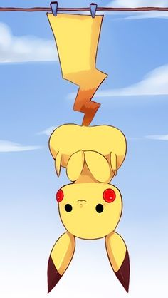Hanging Cute Pikachu iPhone wallpapers @mobile9 | #chibi #kawaii