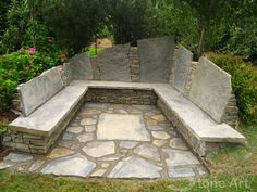 use native stone and turn into fire pit area