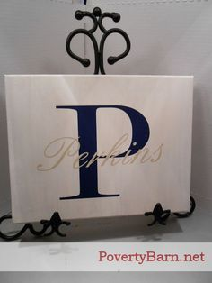 Custom Family Name and Initial Canvas Art by PovertyBarn on Etsy, $25.00