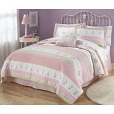 Found it at Wayfair - Tara Stripe Quilt with Pillow Sham, Sheet Set, Pillow, and Valance