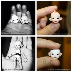 Tiny BJD heads   Flickr - Photo Sharing!