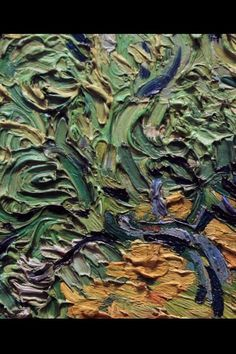 """Detail from Van Gogh's """"Wheat Field with Cypresses"""""""
