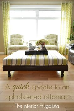 DIY A quick update to an upholstered ottoman