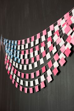 A fun and cute decoration for the Fourth or other Patriotic holidays is this American Flag Bunting. #4thofJuly #DIY
