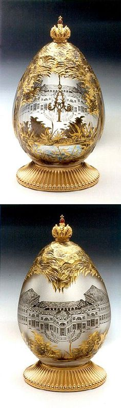 (3) FABERGE eggs__Theo Faberge___Alexander Palace, situated within the Palace & Park ensemble of Tsarkoye Selo, is one the summer residences from the Romanov era. Poignantly, it was from here that Nicholas II and his family departed on their final tragic journey to Yekaterinburg.
