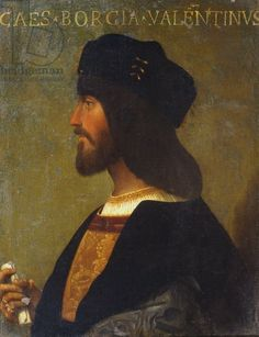 Portrait of Cesare Borgia (1475 or 1476 - 1507) by anonymous painter, Palazzo Venezia Rome