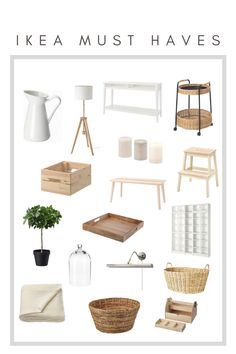 2020 Ikea Must Haves - House of Vedvik Scandinavian Interior Design, Home Interior, Interior Architecture, Living Room Designs, Living Room Decor, Ikea Living Room Furniture, Apartment Furniture, Living Rooms, Apartment Must Haves