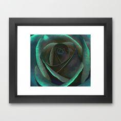 Northern Lights Rose Framed Art Print