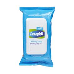 Gentle Skin Cleansing cloths by Cetaphil ~ It's about time they came out with these!