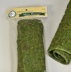 Dried Moss Table Runner.. A good amount of moss for a really decent price. 14x48 inches for $12.99 - DriedDecor.com