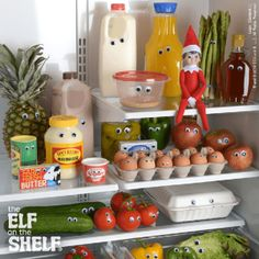 Watch what you eat. Elf On The Shelf Ideas: Explore Ideas for Scout Elves at Christmas Disney Halloween, Christmas Elf, Christmas Crafts, Christmas Carol, L Elf, Elf Magic, Naughty Elf, Buddy The Elf, Theme Noel