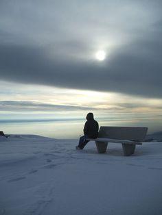 winter sky and solitude