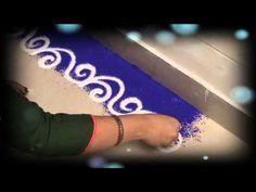 Learn Rangoli : How To Make Beautiful Border Rangoli Design Easy Rangoli Designs Videos, Simple Rangoli Border Designs, Rangoli Designs Latest, Boarder Designs, Rangoli Borders, Rangoli Designs Flower, Rangoli Patterns, Rangoli Ideas, Rangoli Designs Diwali