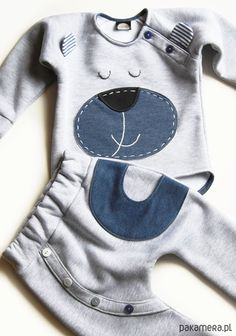 dziewczynka - moda - bluzy - unisex-Dres z misiem komplet bluza spodenki pumpy