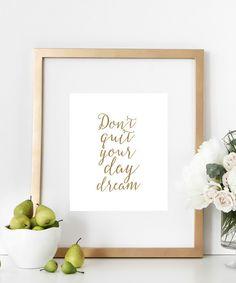 Day Dream (white&gold) #print   http://bymaria.com/
