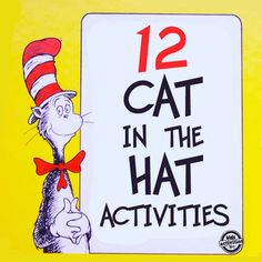 12 Dr. Seuss Cat in the Hat Crafts and Activities for Kids