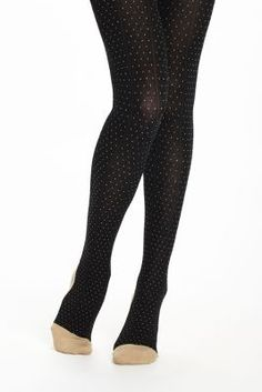 Pin Dot Sweater Tights #anthropologie