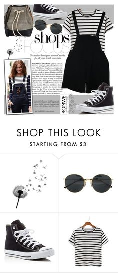 """Striped Black T-shirt!"" by natasa-topalovic ❤ liked on Polyvore featuring Dries Van Noten, Converse and American Apparel"