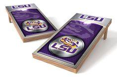 LSU Tigers Cornhole Board Set - Medallion
