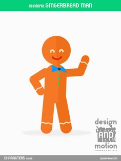 CHAR040_Gingerbread Man. Part of D&M Character Kit.